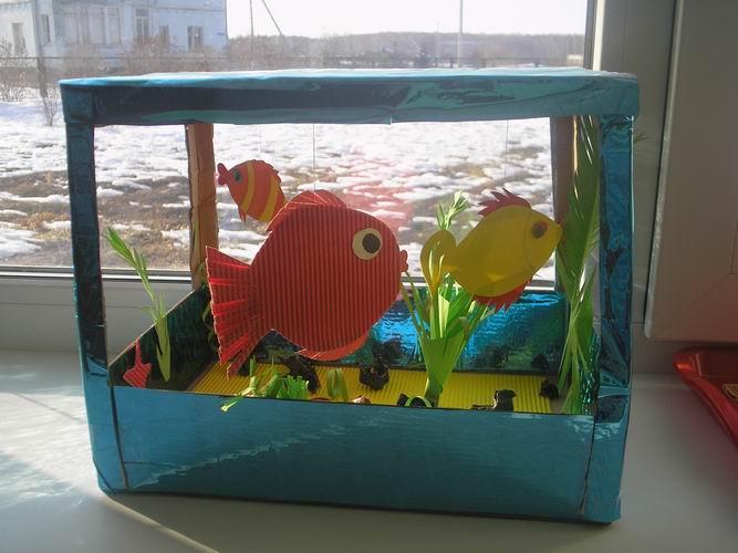 Как сделать аквариум с рыбами 327